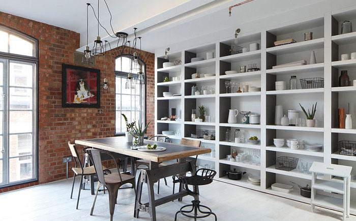 Интерьер столовой в индустриальном стиле от Oliver Burns