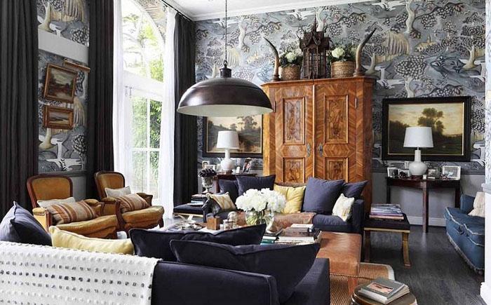 Гостиная в эклектичном стиле от VSP Interiors