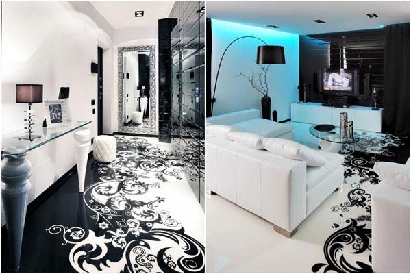 Проект Begovaya  от студии Geometrix Design ‒ стильный чёрно-белый интерьер