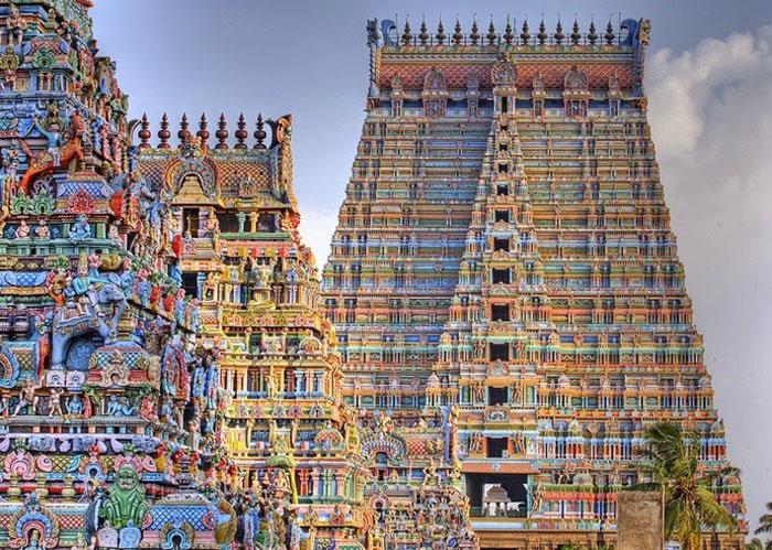 Храм Шрирангам в Индии