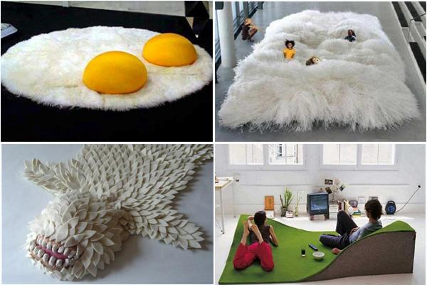 Самые необычные и оригинальные ковры на пол