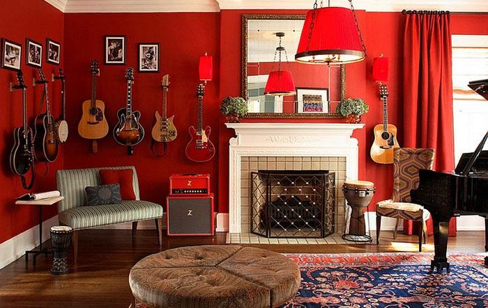 Музыкальная гостиная от  Dillard Pierce Design Associates