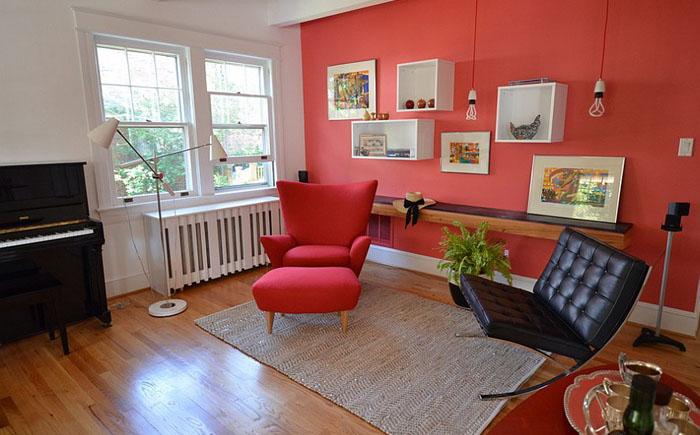 Красная гостиная от  Nicole Lanteri
