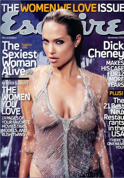 Анджелина Джоли в журнале «Esquire», 2004