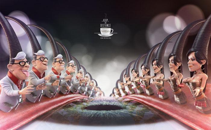 Реклама бразильского кофе