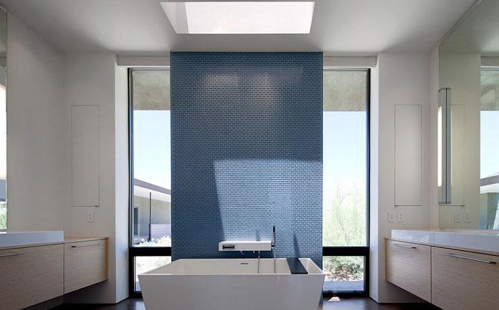 Ванна в минималистском стиле от Ibarra Rosano Design Architects