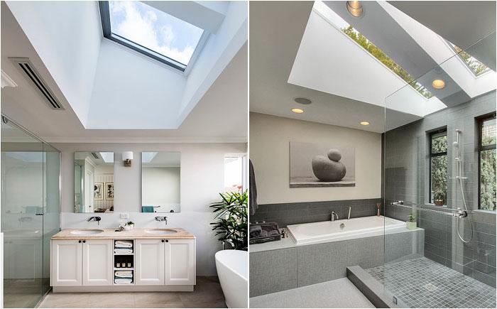 Ванные комнаты в серых тонах