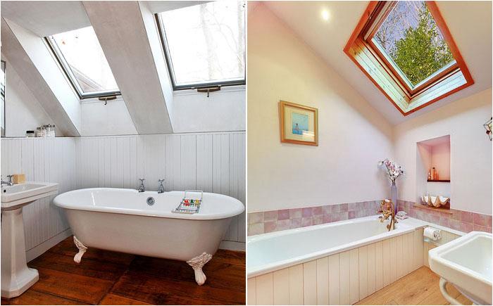 Ванные комнаты на чердаке