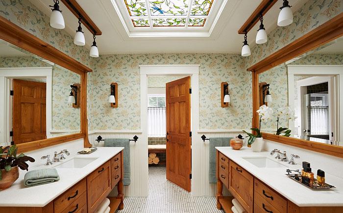 Гармония дизайна потолочного окна и ванной комнаты