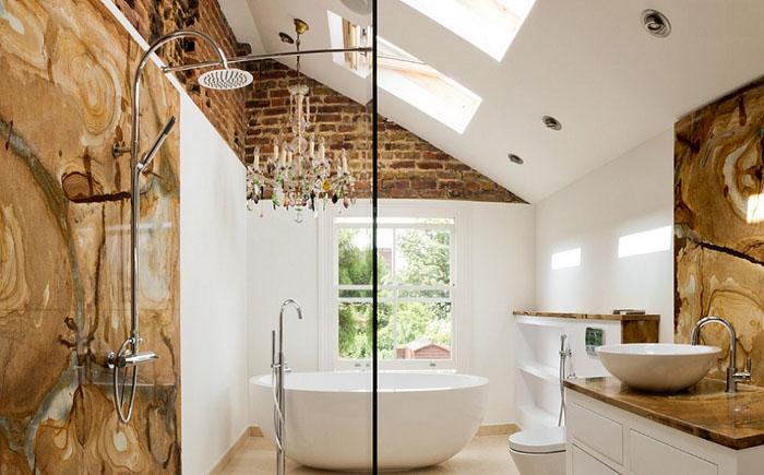 Микс текстур в современной ванной от Tyrrell and Laing International