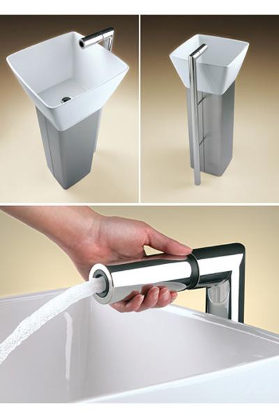 Умывальник Flo Pedestal Sink & Faucet