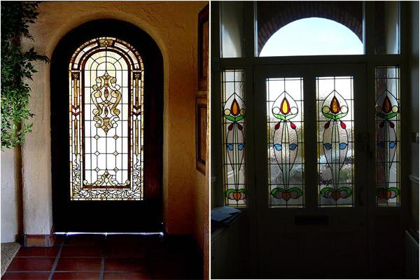 Даже входная дверь может быть с витражным стеклом