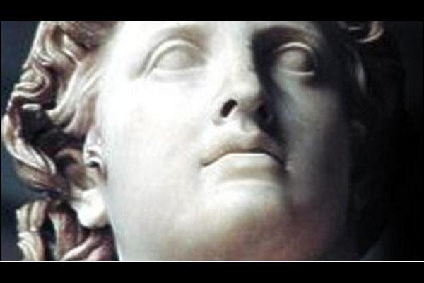 Лицо Аполлона из слоновой кости