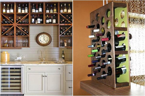 Стеллаж для хранения бутылок с вином