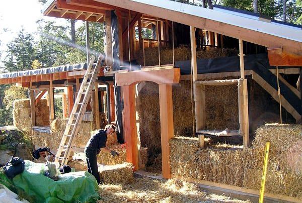 Эко-дом из соломы