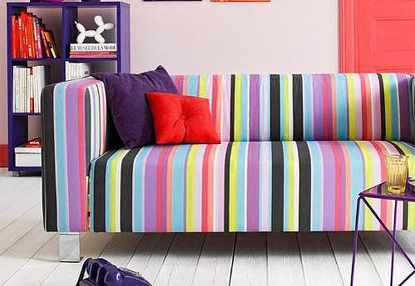Яркий диван для стильного молодёжного интерьера