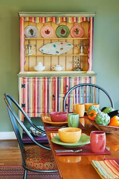 Главный цветовой акцент в столовой