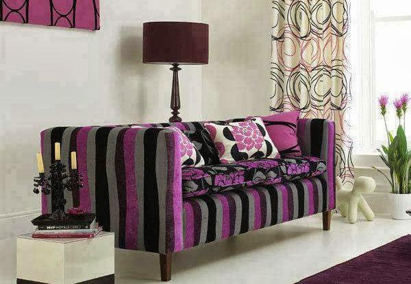 Полосатая мебель в интерьере