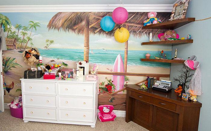 Детская спальня в тропическом стиле