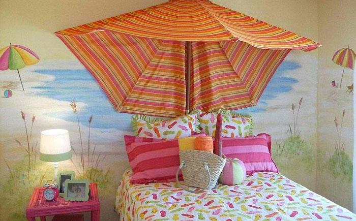Микс пляжного и тропического стилей от Anita Roll Murals