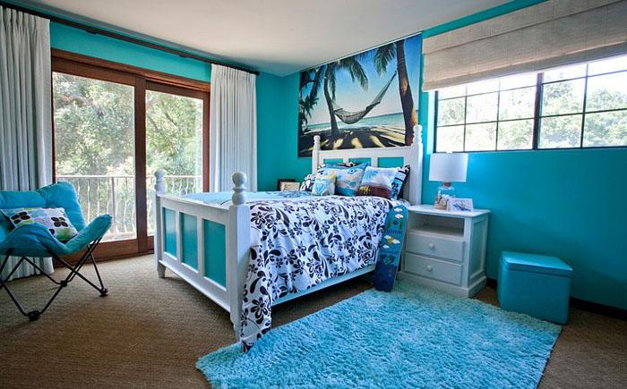 Детская спальня в синих тонах от Genoveve Serge Interior Design
