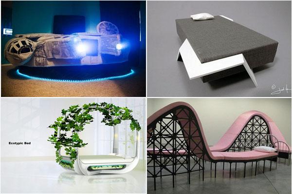Оригинальные и креативные кровати для современного интерьера