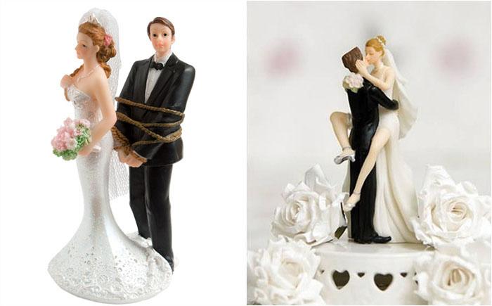 10 украшений для свадебного торта, демонстрирующих суть сложившихся отношений