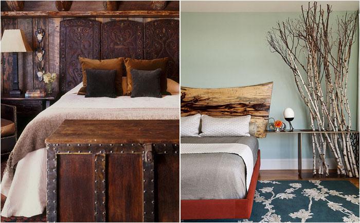 Стильная и модная спальня: 25 удивительных идей для деревянных изголовий кровати