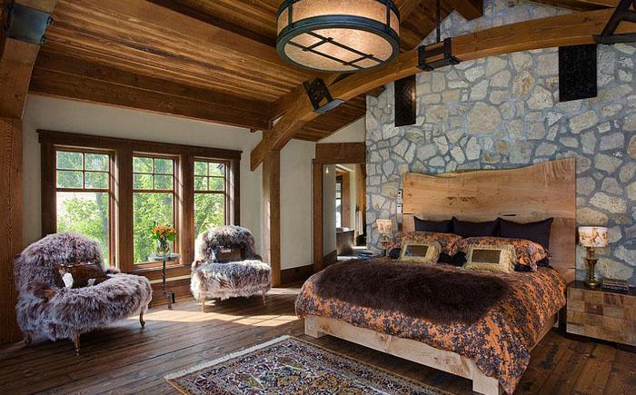 Роскошная спальня в рустикальном стиле от Mitchell Brock