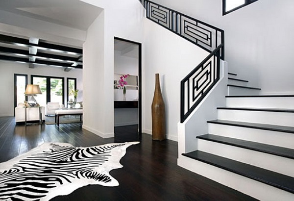 Принт «зебра» в современном интерьере ‒  звериная атмосфера в доме