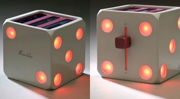 Тостер Sunshine, выполненный в стиле игрального кубика