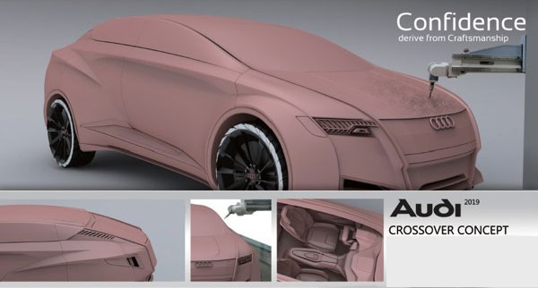 Макет Audi Crossover