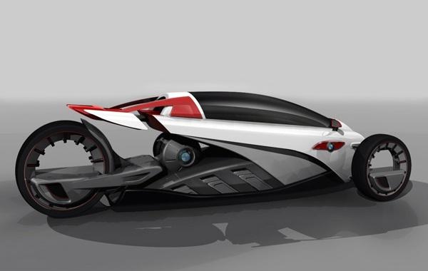 Концепт футуристичного три-виллера BMW i1