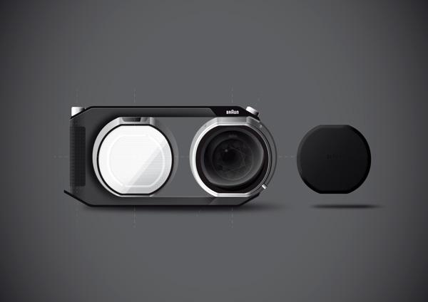 Концепт компактной профессиональной камеры Braun Pivo