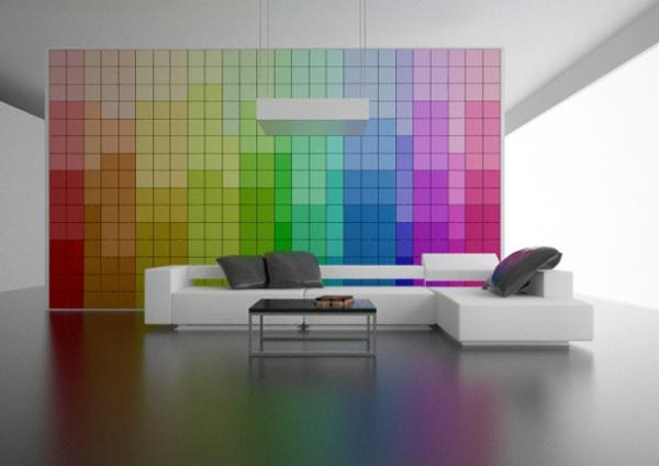 Каждая ячейка стены имеет свой уникальный цвет