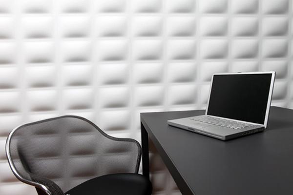 Объемные стенные панели поспособствуют созданию уникального рельефа на стенах и атмосферы помещения в целом