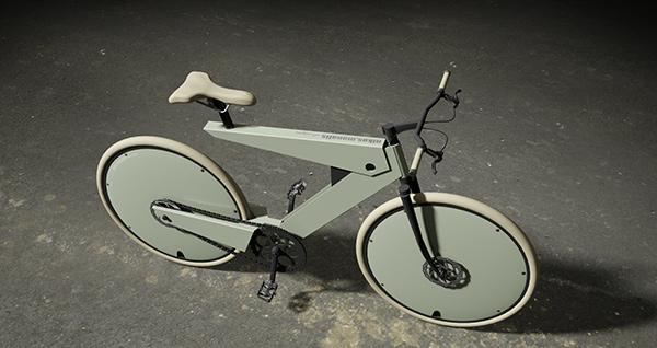 Концепт E-bike в белом цвете