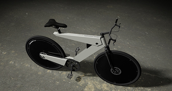 Концепт E-bike в черно-белом цвете