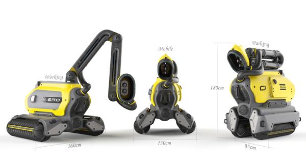 Робот ERO мобилен и имеет небольшие габариты