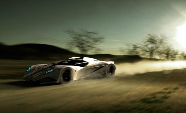 Дорожный истребитель-невидимка Lamborghini Ferruccio на страже экологии