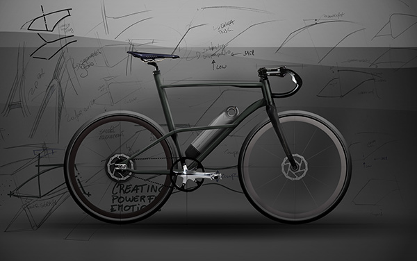 Концепт Cafe Fixie Hybrid, выполненный в стилистике мотоциклов кафе-рейсеров