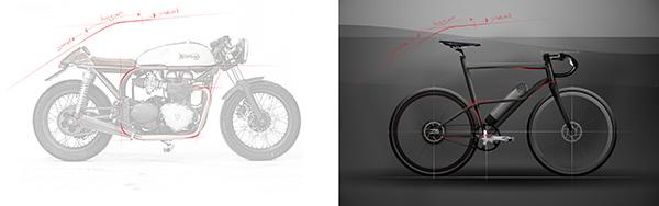 Cafe Fixie Hybrid Bike выполнен в стиле мотоциклов кафе-рейсеров