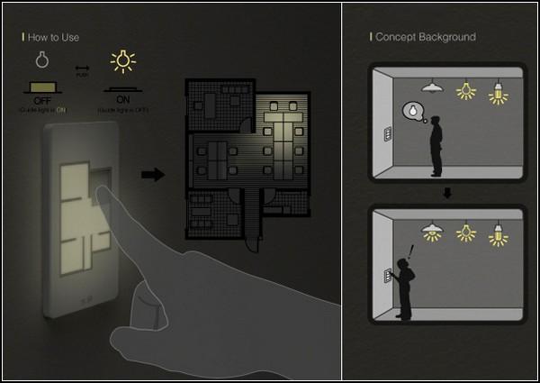 Выключатель света с планом этажа