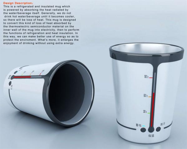 Green Smart Glass сохраняет тепло от горячих напитков, чтобы использовать эту энергию позже