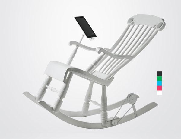 Кресло-качалка iRock для технофилов
