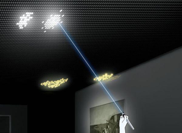 LED покрытие позволяет создавать любые узоры на потолке
