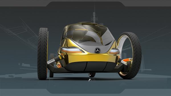 Концепт футуристичного семейного автомобиля Mercedes ELA