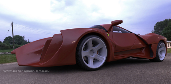 Рестайлинг Ferrari Enzo от дизайнера Peter Simon