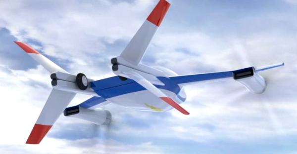 Мощный хвост самолета превращается в посадочные стойки