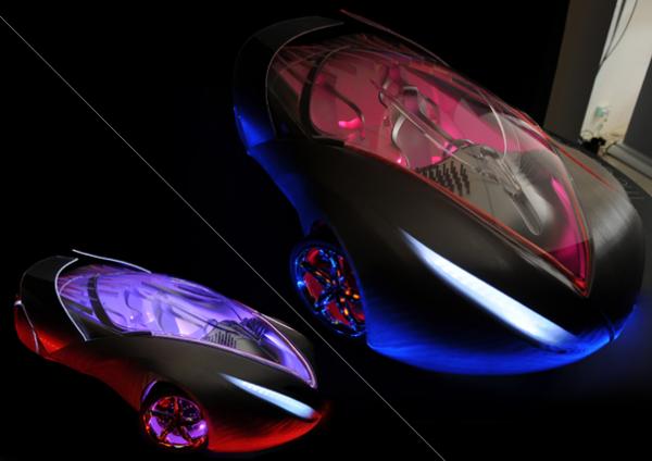 Концепт супер-кара The Car of Light, излучающего свет